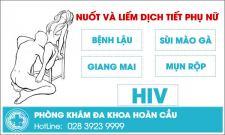 Nuốt và liếm dịch tiết âm đạo phụ nữ lây nhiễm bệnh xã hội HIV
